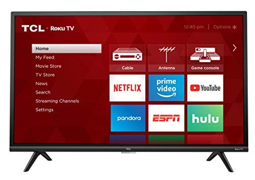 "TCL 32"" 1080p Smart LED Roku TV (Renewed) - 32S327-B"