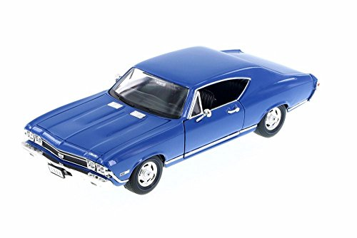 Welly 1968 Chevy Chevelle SS 396, Blue 29397WBU - 1/24 Scale Diecast Model Toy Car ()