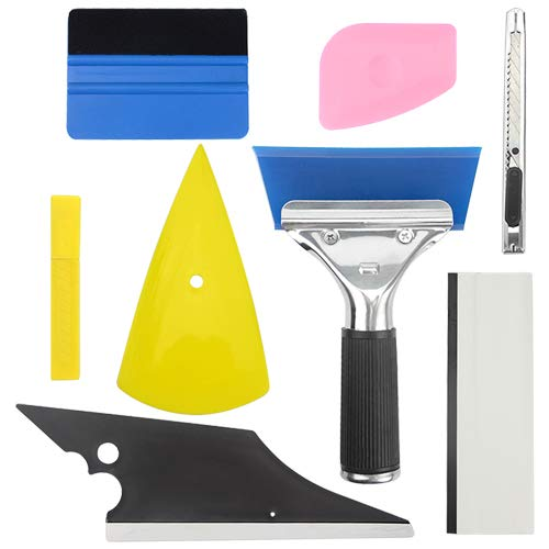 WGCD Car Vinyl Wrap Application Tool Kit 8 in 1 for Car Window Tint Film Installation ()
