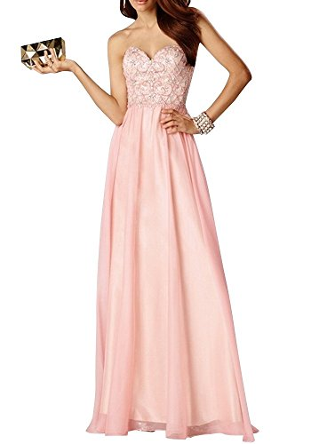 Charm Bridal Pink sequins chiffon sequin summer dress Prom Party dresses long -14-Pink by Charm Bridal