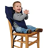 Baby Chair Belt, PUAO Washable Portable Travel High Chair Booster Baby Seat with Straps Toddler Safety Harness Baby Feeding (Size Adjustable, Navy Blue)