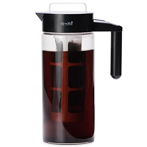 Reveille Cold Brew Coffee Maker - 1300ml  Premium Borosilicate Glass Container with Easy to Use Filtration System and Unique Lid Design to Keep Cold