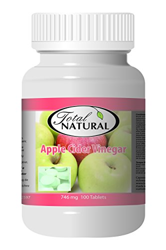 Apple Cider Vinegar 746mg 100t - [12 bottles] Diet And Energy Formulas by Total Natural
