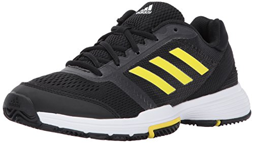 adidas Women's Barricade Club Tennis Shoes -, Black/Lemon Peel/White