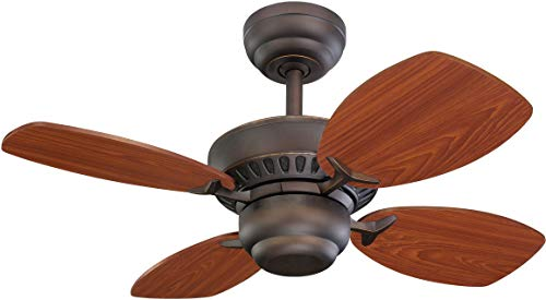 Monte Carlo 4CO28RB Colony II 28 Ceiling Fan for Small Space, 4 Blades, Roman Bronze