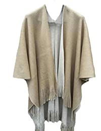 Clearance Coat ☀ Women Cashmere Knitted Cardigan Sweater Poncho Capes Shawl Vintage Cape Solid Sweater