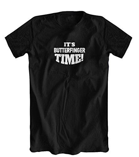 It's Butterfinger Time T-Shirt, Men's, Black, Large