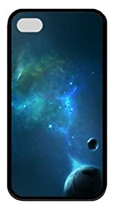 Outer space planets Custom Design TPU Case Cover for iPhone 4 and iPhone 4S Black