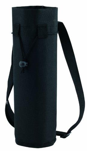 Flaschenkühler / Flaschentasche mit Gurt für Flaschen bis Grösse 1.5l Polyester schwarz