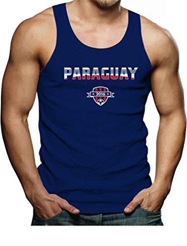 TeeStars - Paraguay National Soccer Team 2016 Paraguayan Fans Singlet XX-Large Blue ()