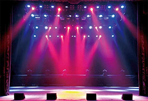 Yeele 7x5ft Stage Concert Backdrop Lighting Nightclub Musical Hall Club Background for Photography Sing Dance Performance Scene Photo Booth Shoots Vinyl Studio Props from Yeele