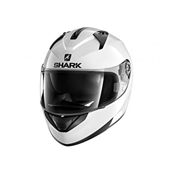Shark casco de moto ridill, color blanco, talla XS