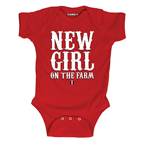 New Girl on The Farm -Infant One Piece-6M Red