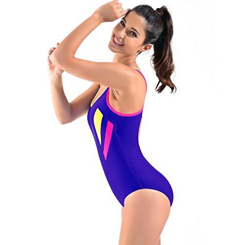 SHISHANG Las señoras del traje de baño traje de Europa y el atractivo del traje de baño del bikini Estados Unidos de secado rápido apretado Navy