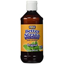 NOW Foods Better Stevia Original Liquid Extract Alcohol 8 fl. oz (237mL)(Pack of 2)