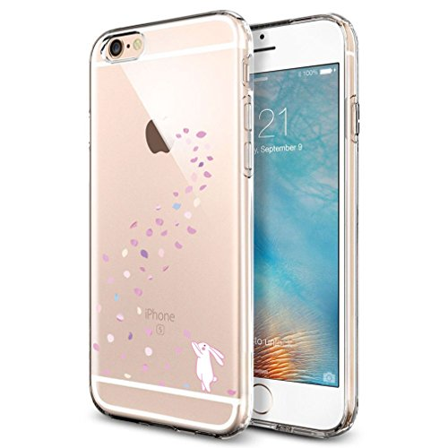 Coque iPhone 6S 6 , ivencase Coque Housse Etui TPU Silicone Clair Transparente Ultra Mince Anti-Scratch Back Case Cover pour iPhone 6S 6 4.7""