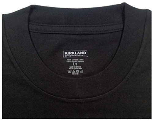 Amazon.com: Kirkland Men's Crew Neck Black T-shirts (/Pack of 4 ...