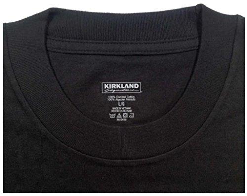 Amazon.com: Kirkland Men's Crew Neck Black T-shirts (/Pack of 4 ...