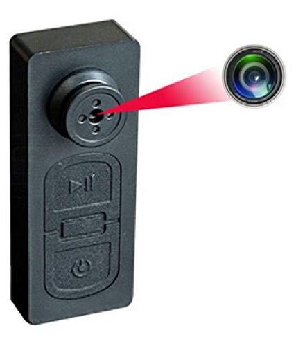 Sekuai Spy Hidden Camera HD S918 Audio and Video CCTV Cam Covert Spy Miniature Button Hidden Camera with SD Card Slot – Up to 32GB