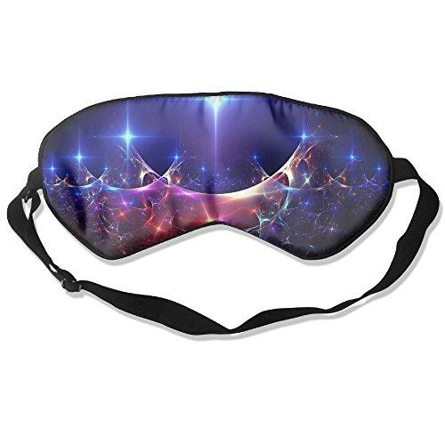 WUGOU Sleep Eye Mask 3D Effect Background Lightweight Soft Blindfold Adjustable Head Strap Eyeshade Travel Eyepatch ()