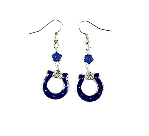 (Purchadise NFL Team Bead Sophie Style Dangle Earrings (Indianapolis Colts))