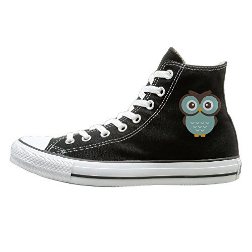 Dance Costumes For Kids In Australia (Hilo Canvas Shoes Antler Owl Hi-Top Unisex Canvas Sneaker- Season Lace Ups Shoes Casual Trainers Men And Women 40)