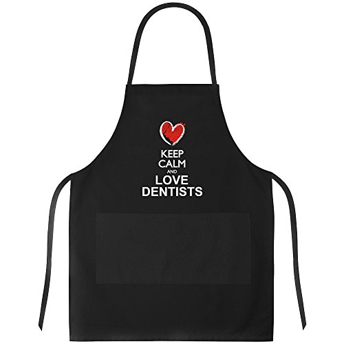 Idakoos - Keep calm and love Dentists chalk style - Occupations - Apron