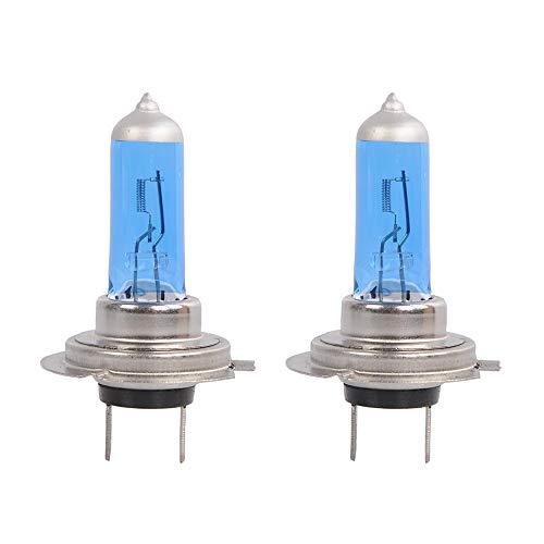 HOTSYSTEM H7 Super White Halogen Headlight Low High Beam Fog Driving DRL Daytime Running Lights Replacement Light Bulb 55W DC12V 5000K (2-pack)