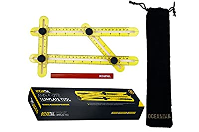 Angleizer Template Tool Angle Ruler Finder ABS Multi-Angle Measuring, Adjustable Measurements for Tile, Stone, Wood, Flooring, General Layout Tools for Handymen, Builders, Craftsmen & Easy To Use DIY