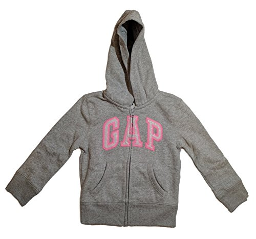 Gap Girls Fleece Arch Logo Pullover Hoodie  Small  White  Pink Grey Logo