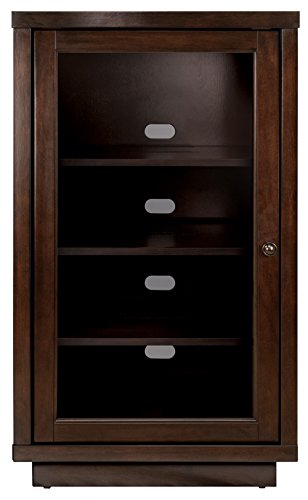 Corner Doors Cabinet Glass (Bell'O ATC402 Audio Video Component Cabinet, Dark Espresso)