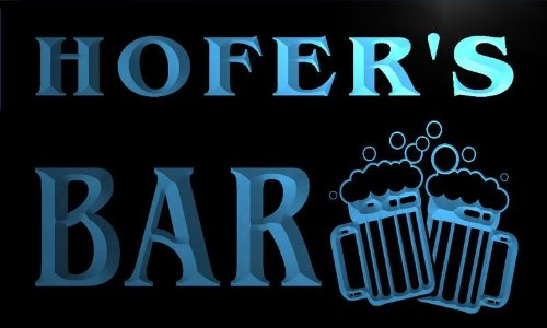 w003940-b-hofers-name-home-bar-pub-beer-mugs-cheers-neon-light-sign