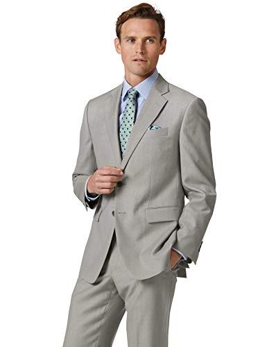 En Droite Costume 48 Business De Coupe Clair Twill Gris Veste 7WAqgXxwSX
