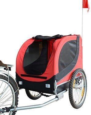 HOMCOM PawHut Remolque Bicicleta Perros Mascota 1 Bandera 6 ...
