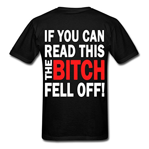 Spreadshirt If You Can Read This B#%Ch Fell Off Funny Biker Men's T-Shirt, L, black (T-shirt Fell Off)
