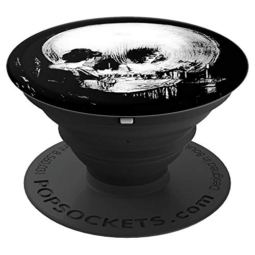 Woman with Halloween Skull Reflection Popsocket - PopSockets Grip and Stand for Phones and Tablets -