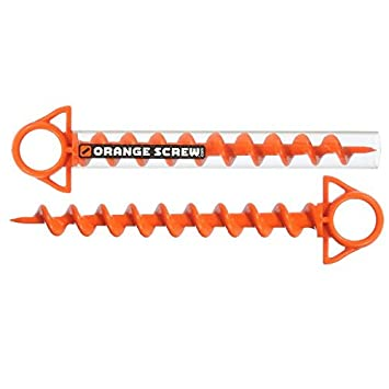 Orange Screw The Ultimate Ground Anchor LARGE u2013 2 Pack  sc 1 st  Amazon.com : screw in tent anchors - memphite.com