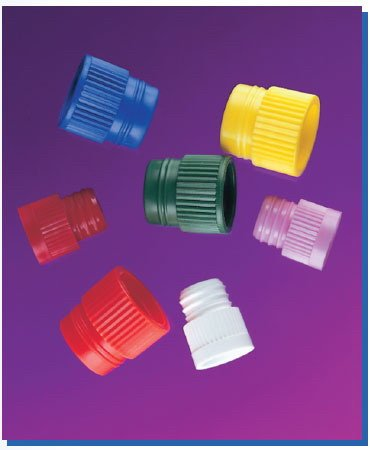 Stockwell Scientific 8575Y Hollow Top Plug Caps for 13 mm Test Tubes, Yellow (Pack of - Plug Tube Hollow