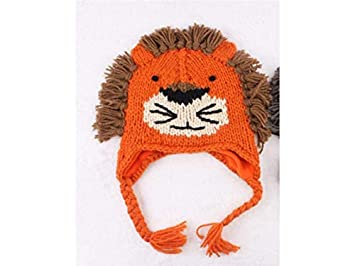 af78879d5eb Amazon.com   Yuchoi Sun Lion Style Knitting Hat Sleeve Cap Keep Warm  Protect Ear Fetal Cap for Baby Kids   Beauty