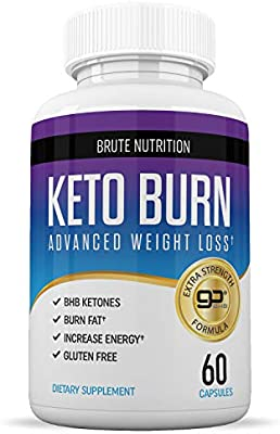 Brute Nutrition - Keto Weight Loss Supplement - Boosts Energy and Metabolism - 60 Capsules