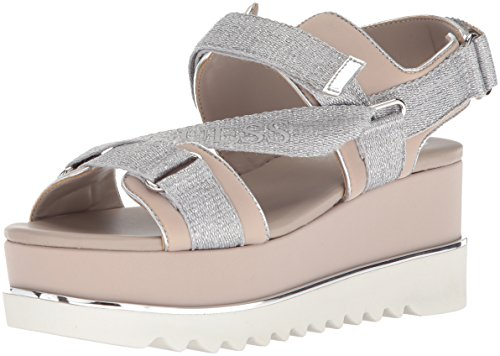 Guess Women's Laureta Wedge Sandal Silver