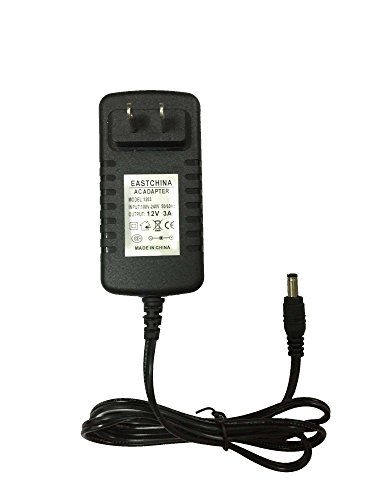 Eastchina DC 12V 3A AC Adapter, DC 12V 3A Power Supply, Ac 100-240v to Dc 12v 3a Dc Output Jack Switching Converter Adapter, 12V 3A Wall Adapter
