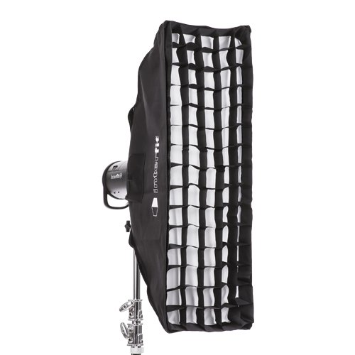 30 x 90cm 12 x 36'' Professional Quality Studio Strip Softbox with Honeycomb Grid Included by Interfit