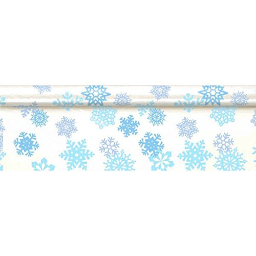 Amscan Snowflake Plastic Table Roll - White and