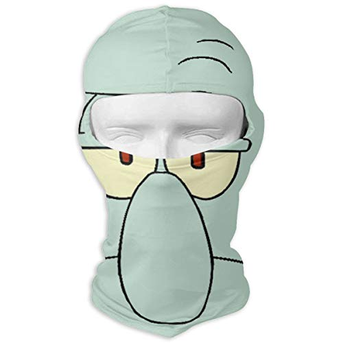 Squid-Ward Funny Face Balaclava Windproof Face Mask for Spring Summer Autumn Thin Mask -