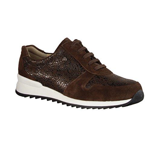 para Comfort mujer de de marrón Zapatos Finn marrón cordones Piel RqZOOYw