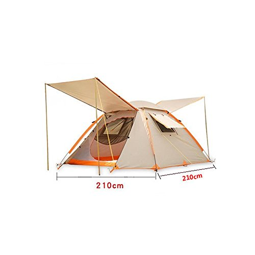 MIAO Outdoor Double Layer 3-4 People Camping Rain Prevention Tentes automatiques