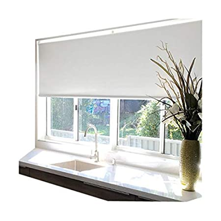 Custom size blackout roller blinds&shades back white coated(Max Width 2.4M, Max Length 2.5M) (Grey) ROSY BLINDS