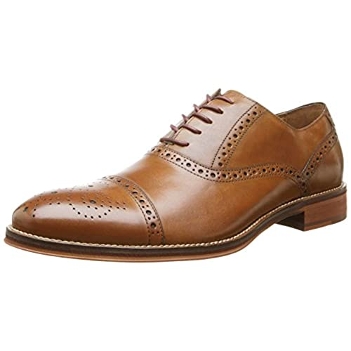Johnston & Murphy Men's Conard Cap Oxford,Tan,12 M US