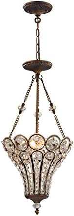 ELK Lighting 12032 3 Chandelier, One Size, Brown
